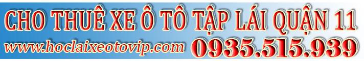 Thuê xe tập lái Quận 11