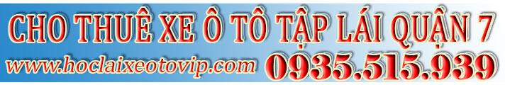 Cho thuê xe tập lái Quận 7