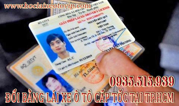 Đổi bằng lái xe ô tô