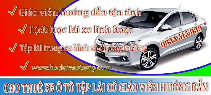 Cho thuê xe ô tô tập lái