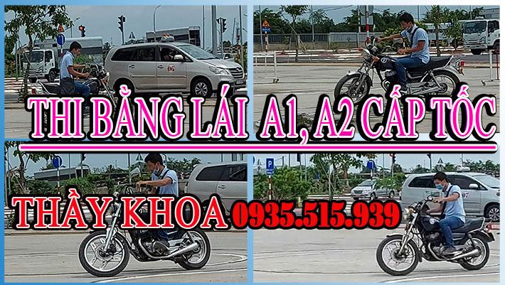 thi bằng lái xe mô tô a1 a2